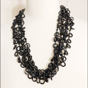 World Market Black/Gold beaded necklace